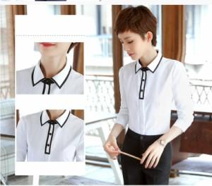 221d49bd10c2d 気品が良い 長袖シャツ レディースブラウス フォーマルスーツ ビジネス 七五三 セレモニー 通勤 OL 大きいサイズ