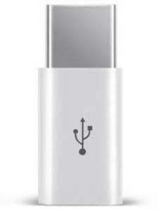 送料無料【Type C USB 充電器へ micro-USB 変換コネクタ 白】micro usb マイクロUSB →Type-C 変換アダプタ アンドロイド USB2.0 スマホ