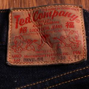 【TEDMAN'S DEVIL-003】ヒップペイントジーンズ!INDIGOボトムステッドマン エフ商会 アメカジ デニム 送料無料
