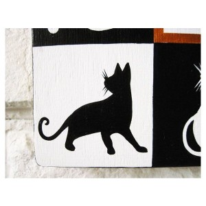猫 ねこ ネコ 掛け時計 壁掛け時計 おしゃれ かわいい 木製 手作り ハンドメイド グッズ 雑貨 猫雑貨 猫グッズ プレゼント