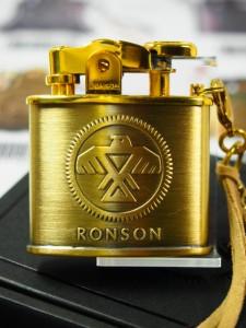 限定RONSON ロンソン・イーグル/スタンダードRO2-2016B フェザー 金色ブラス オイルライター新品