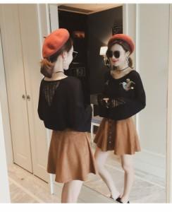 メール便送料無料レディース 女性 ファッション トップス ニット オーバー セーター カットソー ベーシック カジュアル ノーカラー 丸襟