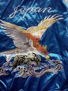 スカジャン 波鷹 日本製本格刺繍のスカジャン