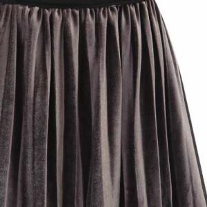 【Tipsy★大きいサイズLL〜5L選べる5サイズ】ウエストゴムプリーツロング丈スカート(LL/3L/4L/5L)(12)