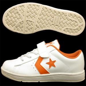 在庫処分!【20cmのみ】コンバース CONVERSE First Star KID'S NEO P-L 白橙 ファーストスター キッズ ネオ プロレザー ベルクロ