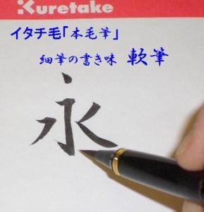 くれ竹 筆ペン ★万年筆型・万年毛筆★べっこう調 5000円 男性 女性 誕生日 プレゼントにも♪