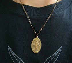 ユージュアリーマリアネックレス レディース ックレス 真鍮製 聖母マリアネックレス レディースアクセサリー<SPREAD PIRATES>