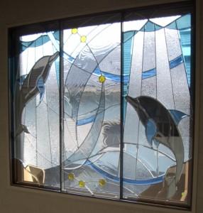 ステンドグラス ステンド ガラス 【送料無料】 SH-GL64SN セブンホーム