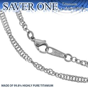 31%OFF! 純チタンスクリューチェーン 幅3.5mm (48cm、53cm) SAVER ONE(セイバーワン) /レディースアクセサリー ネックレス チタニウム