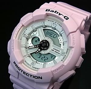 カシオ/G-SHOCK【CASIO/BABY-G】ペアウォッチ 腕時計 ホワイト/ライトピンク【国内正規品】GA-110GW-7AJF/BA-110BE-4AJF