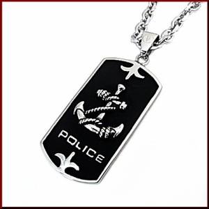 【POLICE/ポリスアクセ】CAPTAI プレートタグトップ ステンレス ネックレス【送料無料】25707PSS01