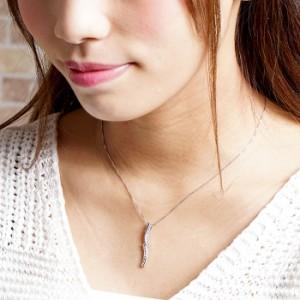 ダイヤモンド ネックレス プラチナ 900 カーブ ウェーブ ペンダント ダイヤネックレス ダイヤペンダント pt900【送料無料】