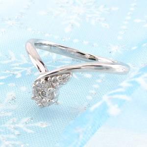 ダイヤモンド リング ダイヤリング V字 Vライン カーブ ミステリー プラチナ900 pt900 指輪【送料無料】