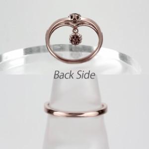 ミステリー ブラ スイング 揺れる V字 ダイヤモンド リング ダイヤリング ピンクゴールド K18PG 0.20ct 指輪 【送料無料】