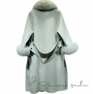 送料無料 ファーコート  フランネルコート   レーコート  厚い 暖かい ロング丈  ファーネック ファー袖 宴会に最適