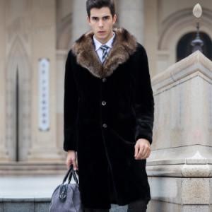 お洒落 毛皮コート 人気 上質 コート 上着 ジャケット ファーコートメンズ ロングコート アウター おしゃれ アウター 暖かい 冬 防寒