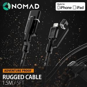 NOMAD RUGGED CABLE ノマド ラギッドケーブル ガジェット 1.5m Lightningケーブル ライトニングケーブル MFi認定 【メール便OK】