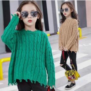 春秋着 冬着 下着トップス ニット セーターTシャツ 暖かい 韓国風 女の子 セーター 体型カバー セーター 女の子 セーター 長袖