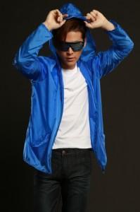 ■送料無料■ELEX光るパーカー青(ブルー) 蛍光色  Mens・男性用サイズ【お取り寄せ】