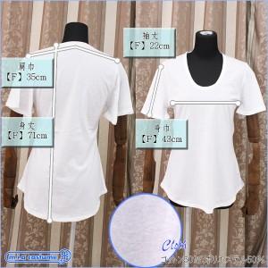 ■即納!特価!在庫限り!■ トムス社 レディース ベルスリーブTシャツ 色:白 サイズ:F(フリー)