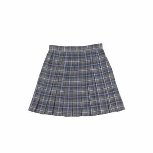 ■送料無料■ Teens Ever プリーツスカート チェック 色:グレー×ネイビー×白 サイズ:L■ 学生服・プチプラ【お取り寄せ】