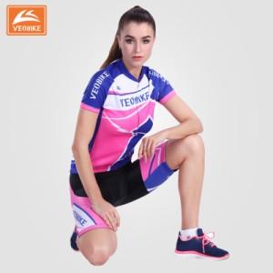 2点セット レディース半袖自転車ウェア上下セット 半袖 Tシャツ 自転車用ジャージ パンツ サイクルウエア メンズ 女性用 夏秋通気 薄手