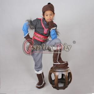 高品質 高級コスプレ衣装 ディズニー風 アナと雪の女王 クリストフ タイプ 子供用 キッズ コスチューム