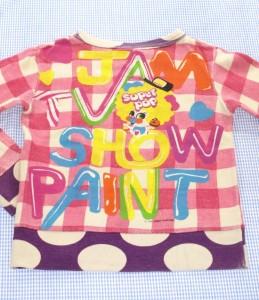 ジャムJam トレーナー 白/ピンク系 チェック 120cm 着用感 女の子 キッズ 子供服 120H70978