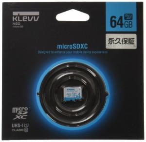 "ESSENCORE KLEVV NEO microSDXCカード 64GB CLASS10 UHS-1対応 ""超高速転送 Read97"" U064GUC1U18-A"