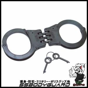 【手錠】ハンドカフ トリプルチェーン ダブルロック ブラック