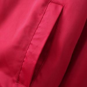 レディース ボンバー ジャケット アウター スカジャン スタジャン コート 長袖 ボタン ポケット カジュアル 赤