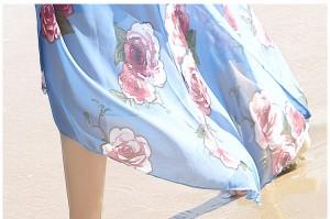 ロング 半袖 Vネック ラップドレス ワンピース 春夏