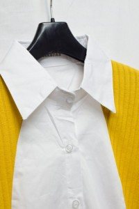 ニット 切り替え シャツ 異素材 MIX 長袖 ドルマン スリーブ レイヤード 風 大人 カジュアル