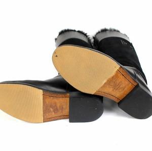 銀座 シャネル マトラッセ ロングブーツ 靴 レザー 黒 ブラック size38