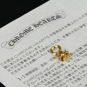 銀座 クロムハーツ 22K CHプラス スタック ネックレス トップ チャーム