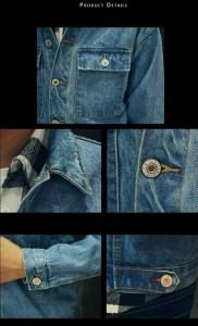 デニムジャケット メンズ Gジャン パーカー 大きいサイズ デニム 長袖 ジージャン切替 ショート丈 秋冬シーズン ヴィンテージ新品