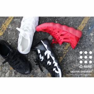 ハイテクスニーカー スニーカー ランニングシューズ レースアップ メンズ 靴 カジュアルスニーカー ブラック レッド 黒 赤 白 OPS067-1