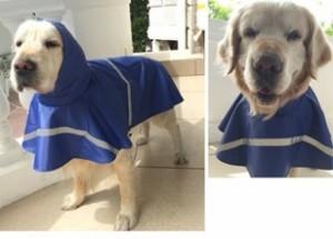 犬 レインコート レインポンチョ 犬用 大型犬 中型犬 小型犬 ペット 雨具 カッパ かっぱ ライトブルー