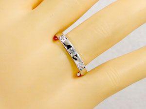 ダイヤモンド ホワイトゴールド k18 スリーストーン  ピンキーリング K18wg 指輪 ダイヤ 0.21ct
