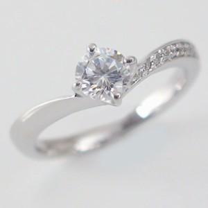 ダイヤモンド 鑑定書付 プラチナ 婚約指輪 エンゲージリング 結婚指輪 マリッジリング 3本セット ダイヤ 0.5ct D-VS1-EX V字 Pt900