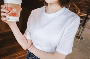◆送料無料◆シンプル ミディアム 半袖 クルーネック ストリート 無地 トップス Tシャツ・カットソー・タンク 春夏秋 mnss1225