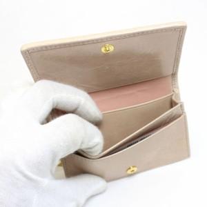 [あす着]ミュウミュウ 名刺入れ MIUMIU miumiu キーリング付 カードケース レザー ベージュ 5mc407-matla-cipria