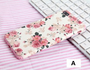 高品質柔らかい花柄カバーiPhone8/iPhone8 Plus/iPhone7/iPhone7 Plus用 森ガール風背面保護カバー超軽量薄型シリコン【F590】