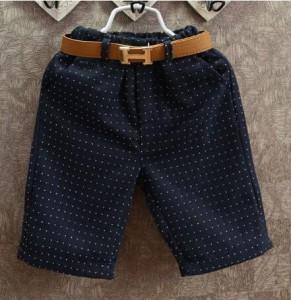 韓国風 男の子セットアップ子供服キッズ半袖Tシャツ+ショートパンツ2点セット結婚式 偽ベストTシャツ半ズボン卒園式 水玉  ドット柄