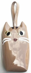 キジトラ猫のポーチ ペットボトル 哺乳瓶 マグボトル 傘入れ ケース ミニトート 猫顔 猫 雑貨 グッズ