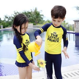 韓国風 キッズ 水着  子供水着 男の子 女の子 3点セット  こども 水着 キッズ ラッシュガード 水着  YA495