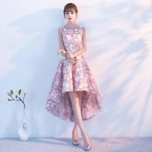 ドレス ワンピース ミニ丈 ノースリーブ  発表会 パーティーロング SMLXL2XL3XL フィッシュテール ピンク シャンパンゴールド レッド