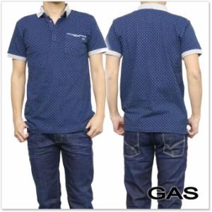 【セール 45%OFF!】GAS JEANS ガスジーンズ メンズポロシャツ HELIX/S / 310133 182460 ネイビー