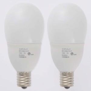 エコ電球 E17 昼光色 7W/40W形 2個 EFA10ED/7-E17-2P オーム電機 04-1443