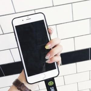 スマイル ウィンク ストラップ iPhone シェルカバー ケース★ iPhone 6 / 6s / 6Plus / 6sPlus / 7 / 7Plus ★ [NW123]